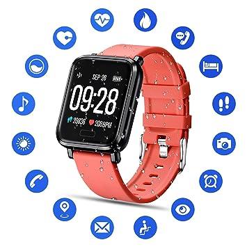 Tipmant Reloj Inteligente Mujer Hombre Smartwatch Pulsera de Actividad Inteligente Impermeable IP68 Pulsómetros Podómetro Monitor de Sueño Calorías ...
