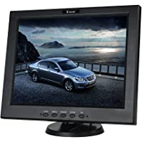 Eyoyo 12 Inch HDMI Monitor with BNC VGA AV HDMI Input 800x600 Portable 4:3 TFT LCD Mini HD Color Video Screen with Bulit-in Speaker