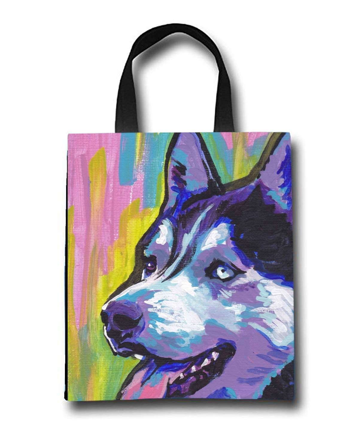 Siberian Husky Beach Tote Bag - Toy Tote Bag - Large Lightweight Market, Grocery & Picnic
