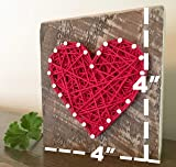 Sweet & small red string art heart block