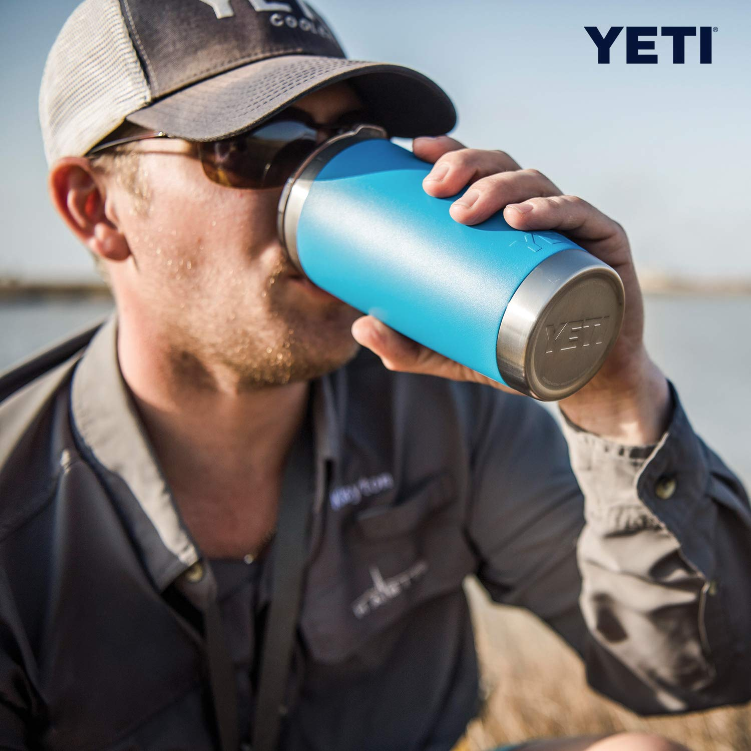 YETI Rambler 20 oz Stainless Steel Vacuum Insulated Tumbler w/MagSlider Lid, Reef Blue by YETI (Image #7)