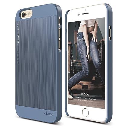 timeless design e8514 57c72 iPhone 6S Case, elago [Outift Matrix][Royal Blue] - [Premium Hybrid  Construction][Brushed Aluminum][Spark Design Award] - for iPhone 6/6S