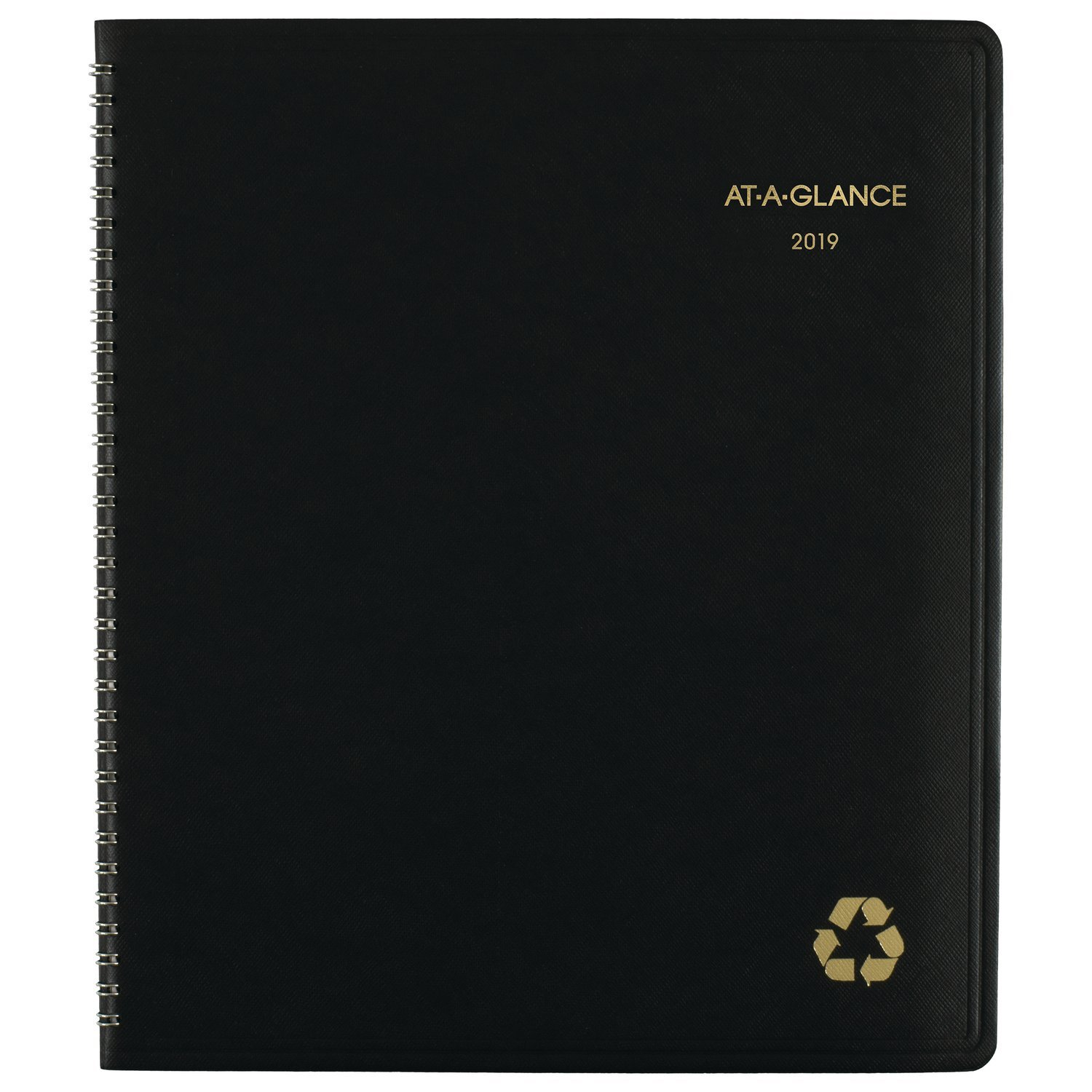 AT-A-GLANCE 2019-2020 Monthly Planner, 9'' x 11'', Large, Recycled, Black (70-260G-05)