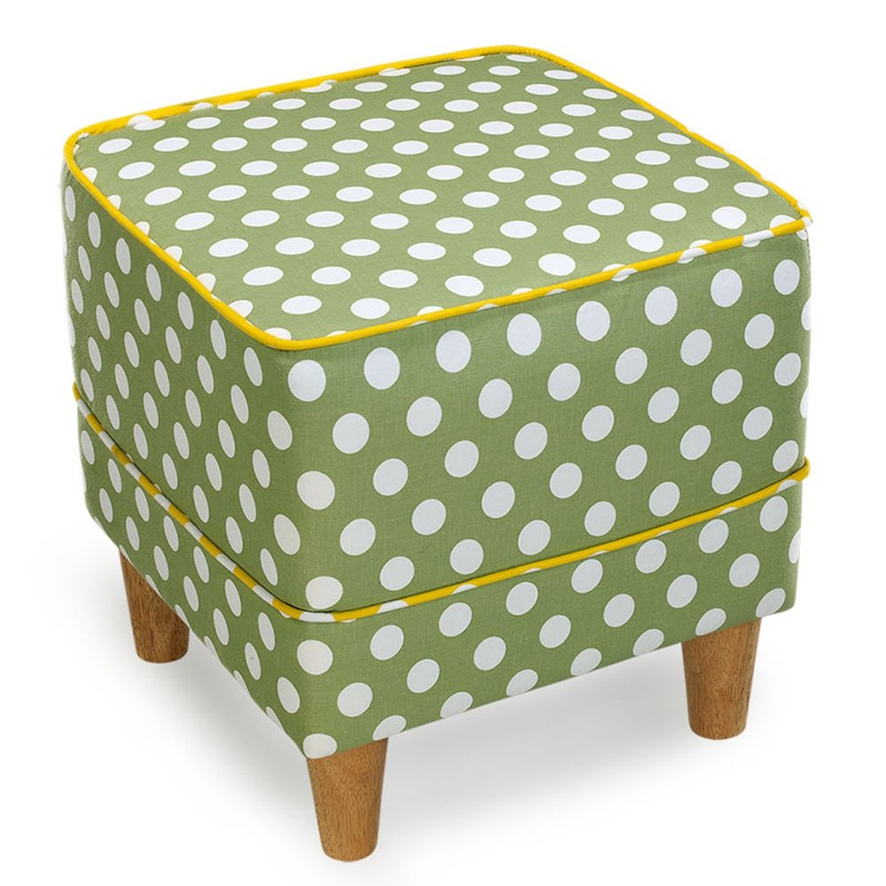 Children's Stool European Footstool Creative Bedroom Stool Fabric Sofa Stool Shoe Bench Bed Stool Dressing Stool Solid Wood Stool Living Room Stool Coffee Table Stool 3740cm (Color : 5)