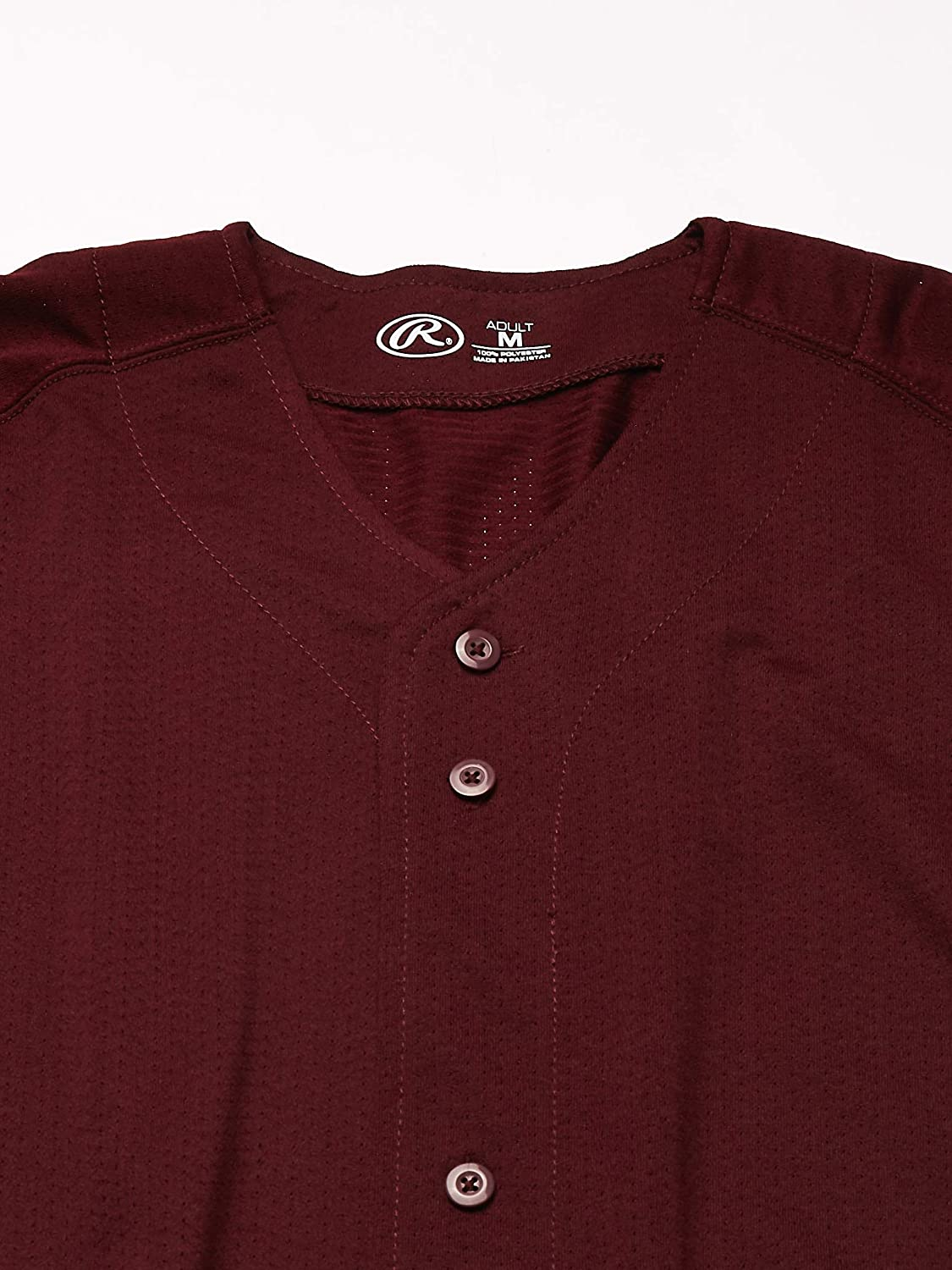 Rawlings Mens Full Button RBJ167 Jersey X-Large Maroon