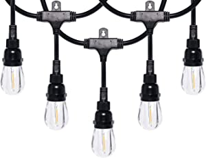 Honeywell 24' Commercial-Grade LED Indoor/Outdoor Café String Lights