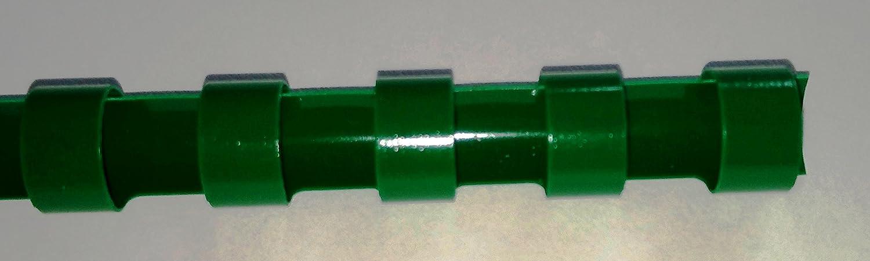 8mm bind2go Green Plastic Binding Comb 21 Rings A4
