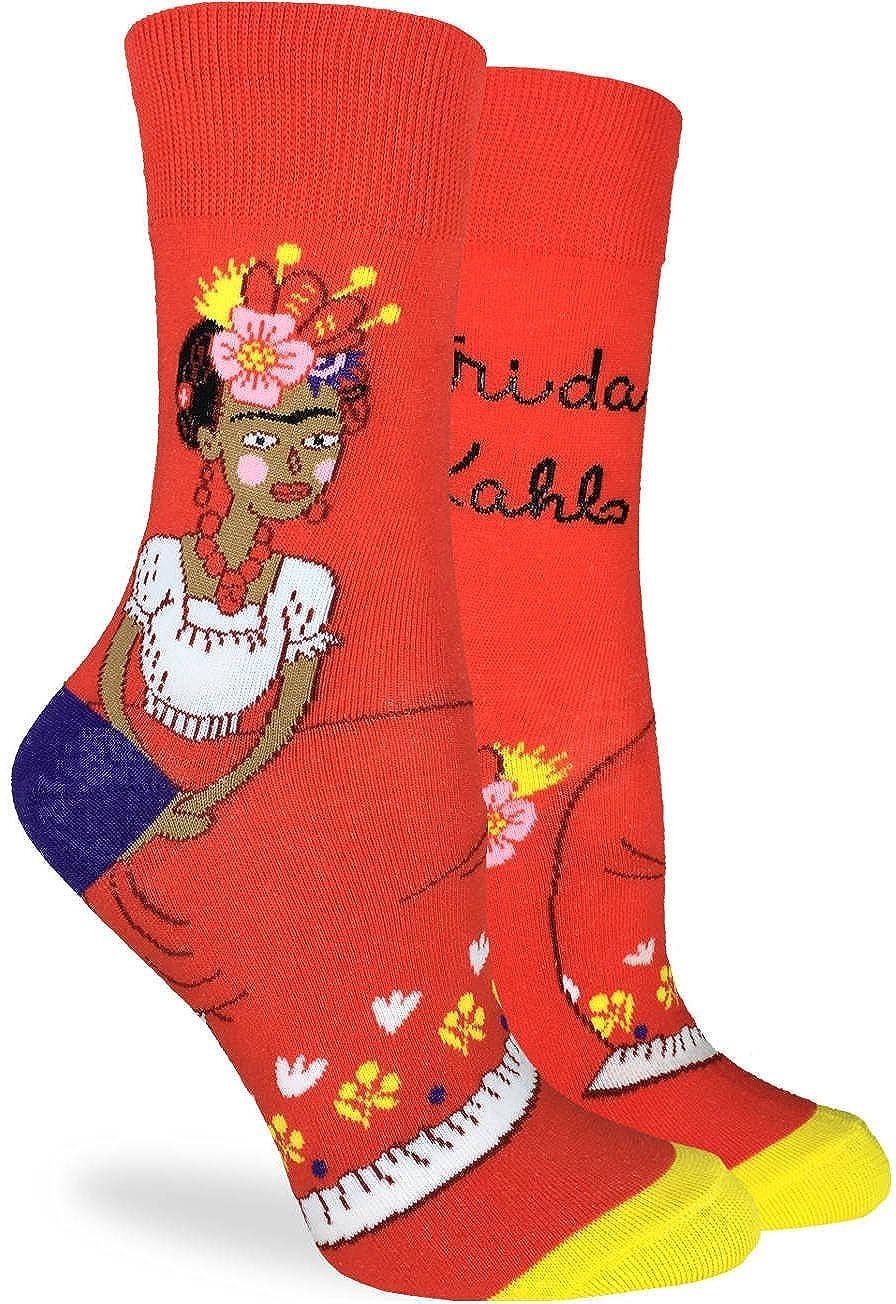 Good Luck Sock Women's Frida Kahlo Socks - Orange, Adult Shoe size 5-9 3079