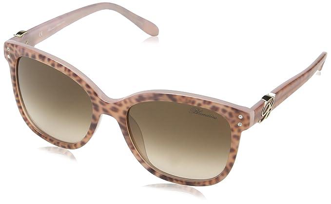 Blumarine SBM629S, Lunettes De Soleil Femme, Brown (Shiny Leopard Pink), 7b3e4b9bb979