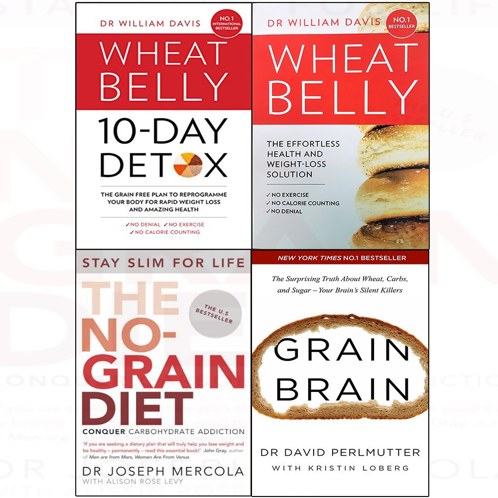 Download Grain free plan, wheat belly, no-grain diet, grain brain 4 books collection set pdf epub