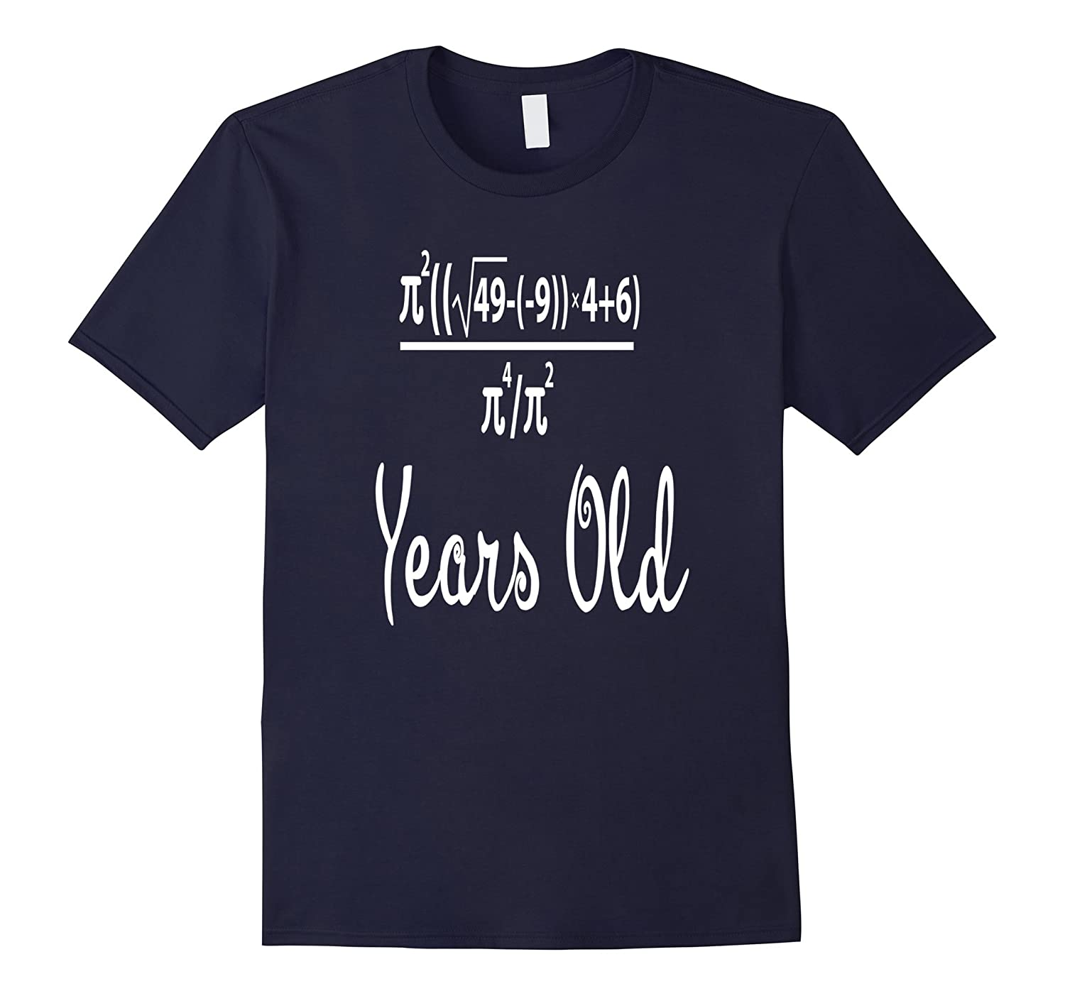 70 Years Old Algebra Equation Funny 70th Birthday Math Shirt-CL