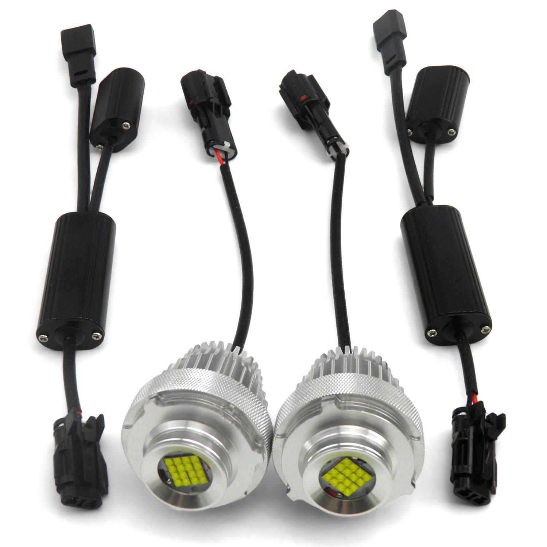 Cicmod High Power 80w E60 E61 Lci Canbus Angel Eye Halo Led Upgrade Light Wiring Harness 2008 Bmw Bulbs 6000lm Ring Car Motorbike