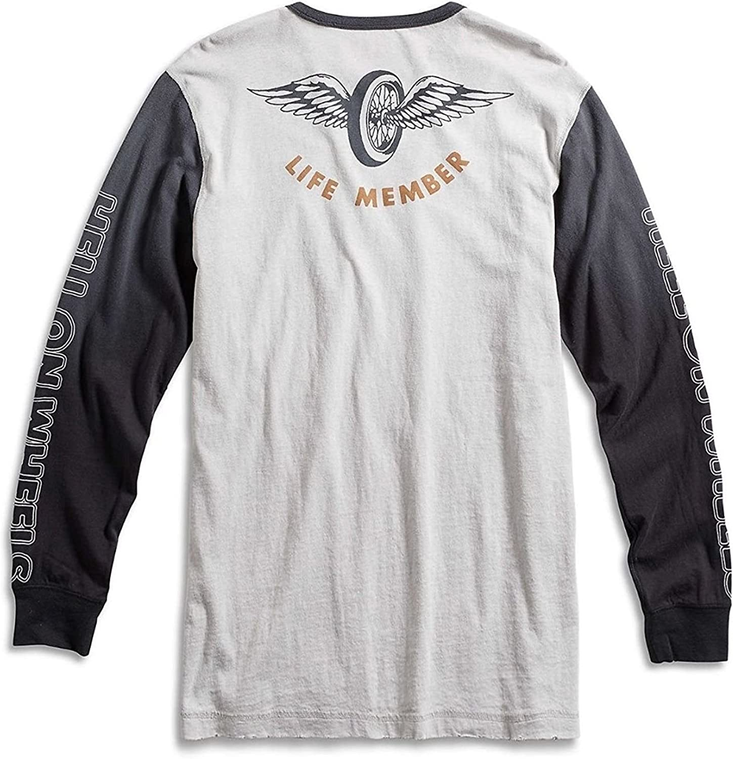 Lucky Brand Mens Burnout Triumph Thunderbird 6T Motorcycle Tee
