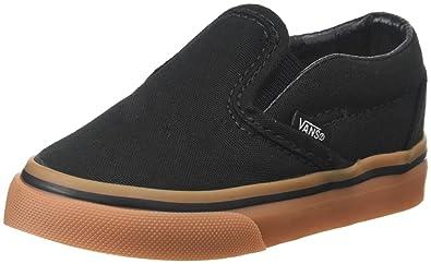 214bfa8c244393 Vans Boys  Classic Slip-On (Toddler) - (Gumsole) Black Classic Gum ...