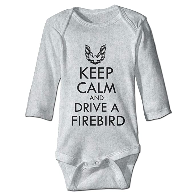 Baby Keep Calm and Drive A Firebird Babysuit Long Sleeve Bodysuit Outfit  Gray 6M 159c45ff2