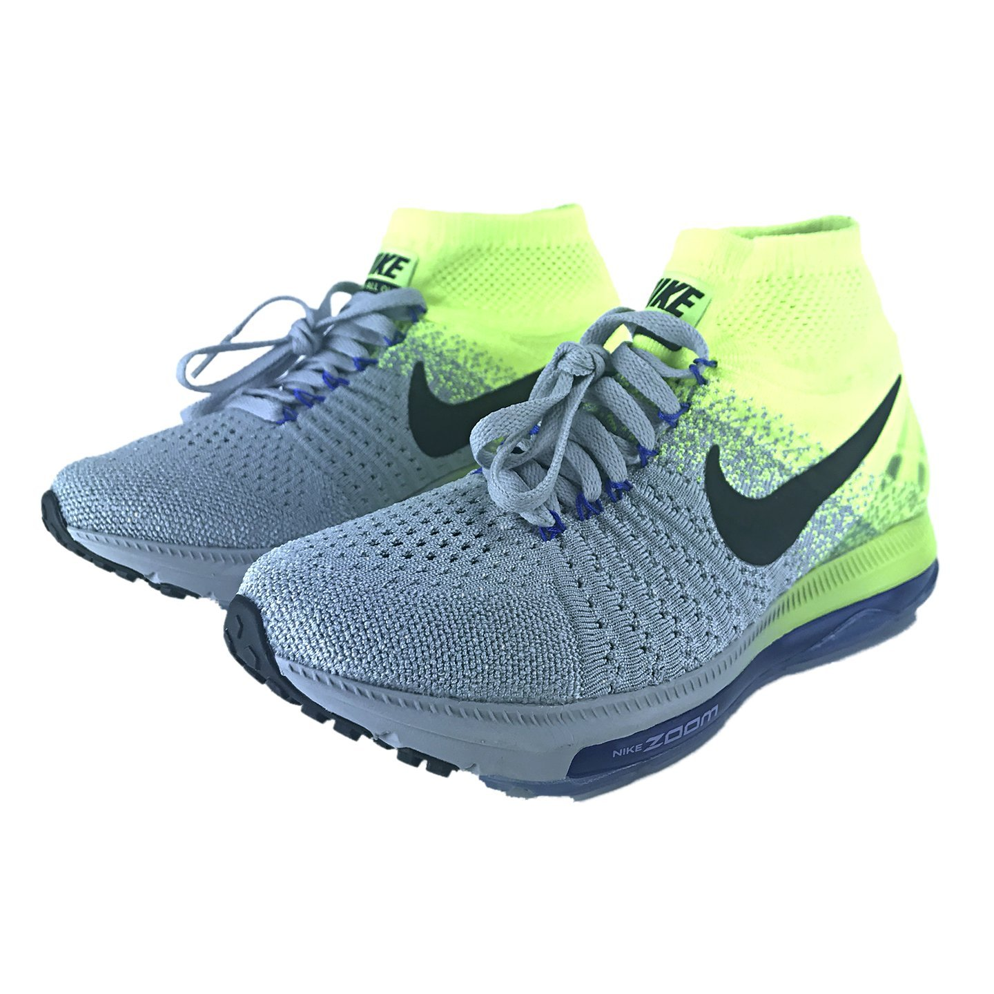 Nike Women's Zoom All Out Flyknit Running Shoes B072117DMF 10 B(M) US|Wolf Grey/Black Volt