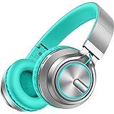 Wireless Headphones 25 Hrs w/Romantic LED Light, HiFi Stereo Picun Bluetooth 5.0 Headphones Over Ear w/Deep Bass/HD Mic/Bag,