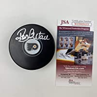 $64 » Autographed/Signed Ron Hextall Philadelphia Flyers Logo Hockey Puck JSA COA