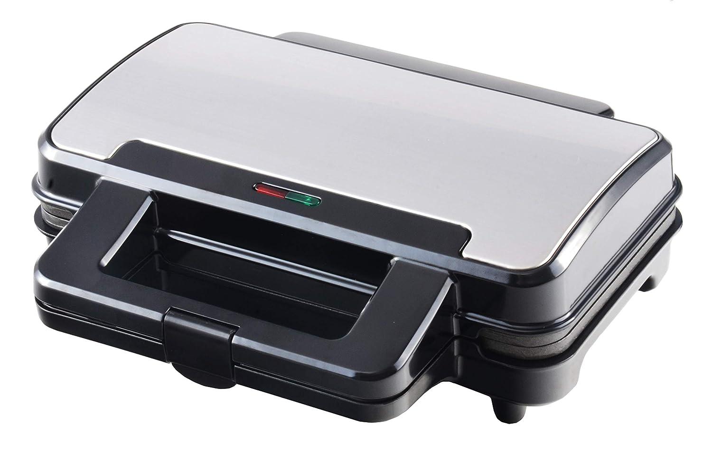 Venga! VG SM 3007 - Sandwichera de 900 W (acero inoxidable, plástico y metal, color negro)