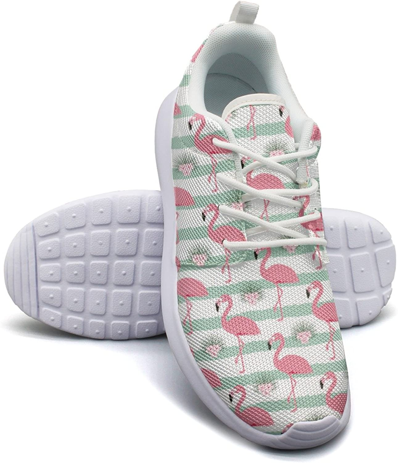 Stripes and flamingos mesh lightweight shoes for women comfortable sports basketball Sneakers shoes
