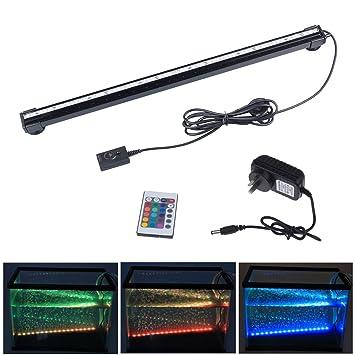 Airmood Kit de Luces de Acuario LED para Acuario Submarino Luces sumergibles de Cristal de Vidrio Adecuado para Agua Salada y Agua Dulce Blanca: Amazon.es: ...