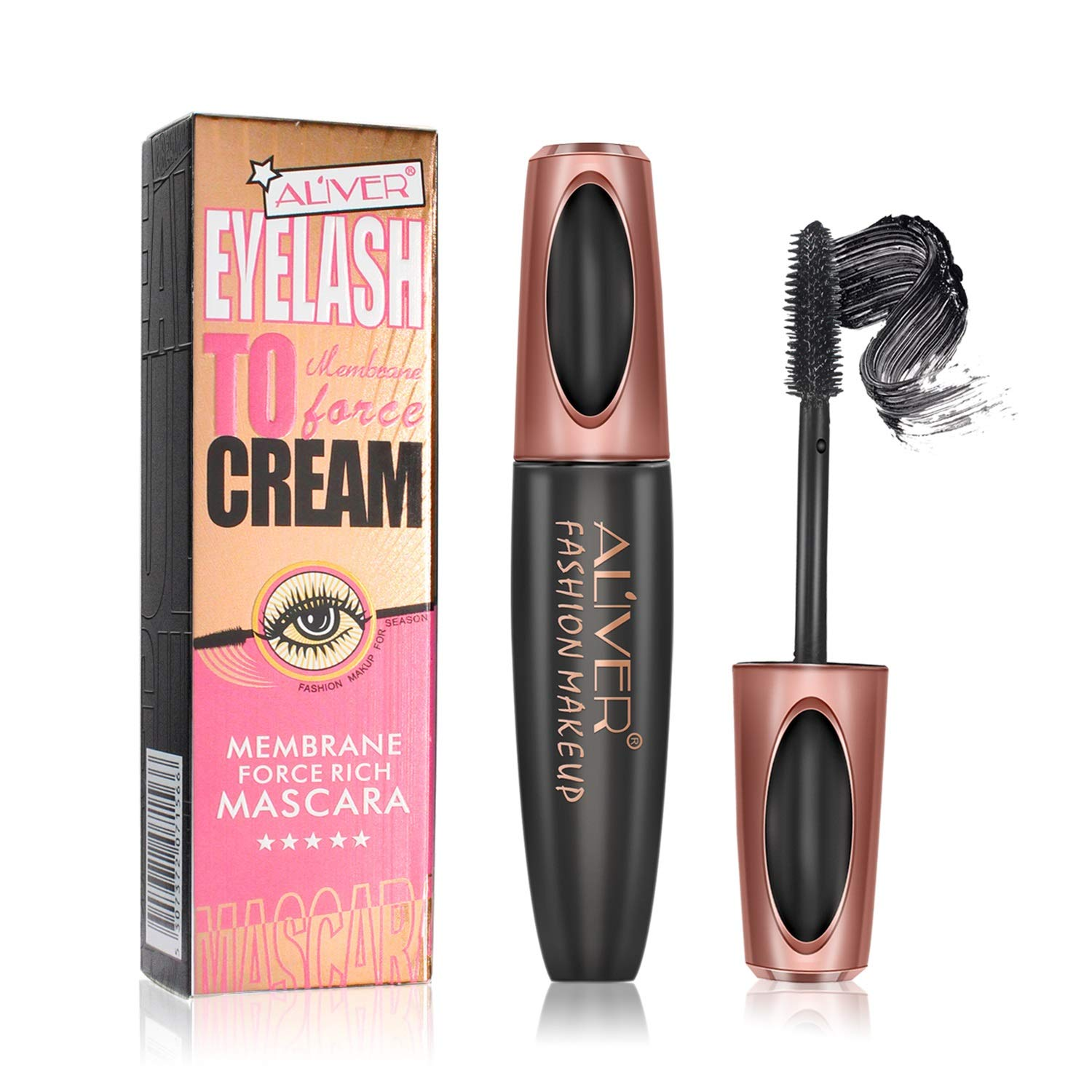 Mascara, Aliver Dazzle Rich Black Mascara with 3D Brush Head for Eyelash Nourishing