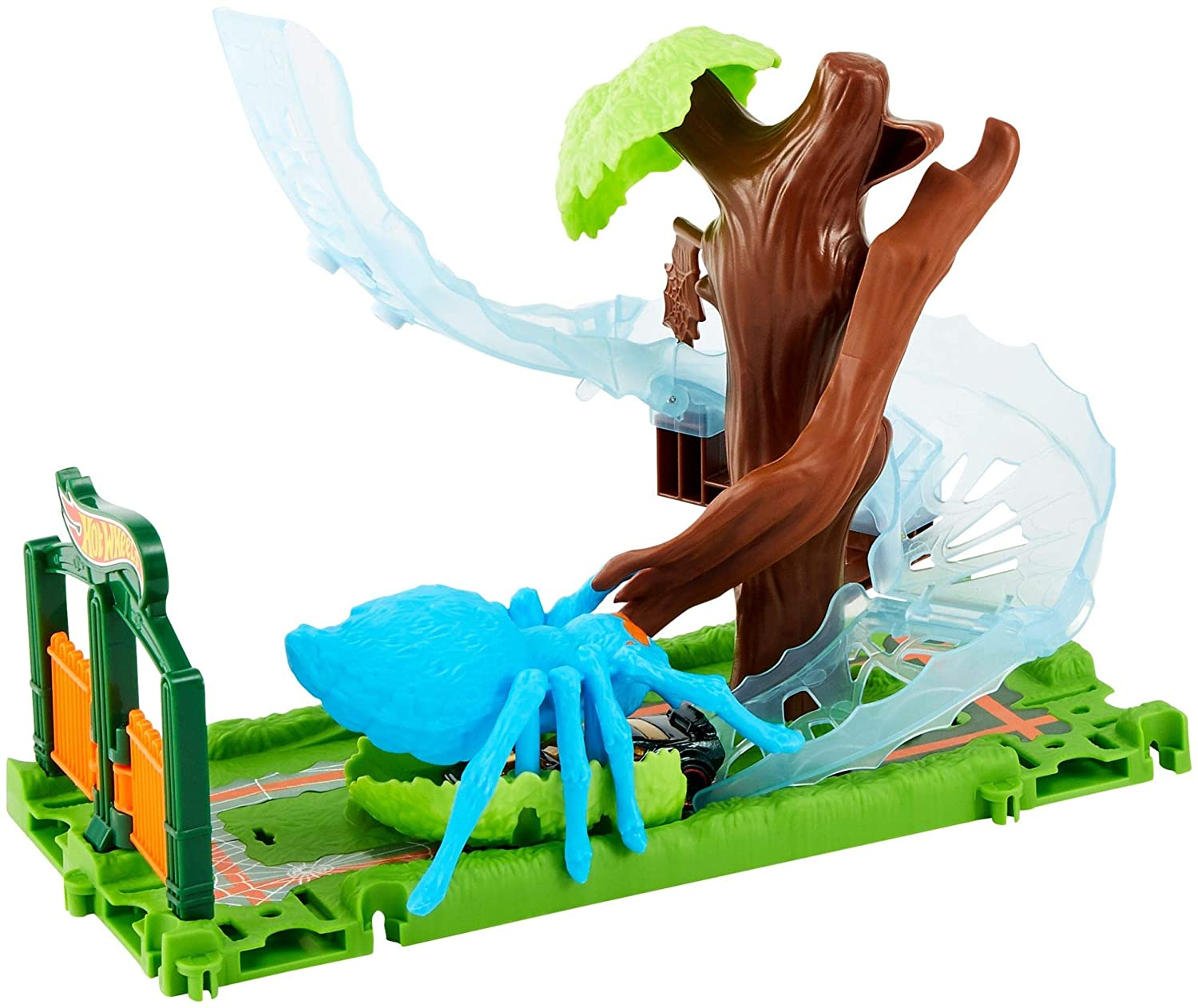 Hot Wheels City Spider Park Attack Playset Mattel FNB07