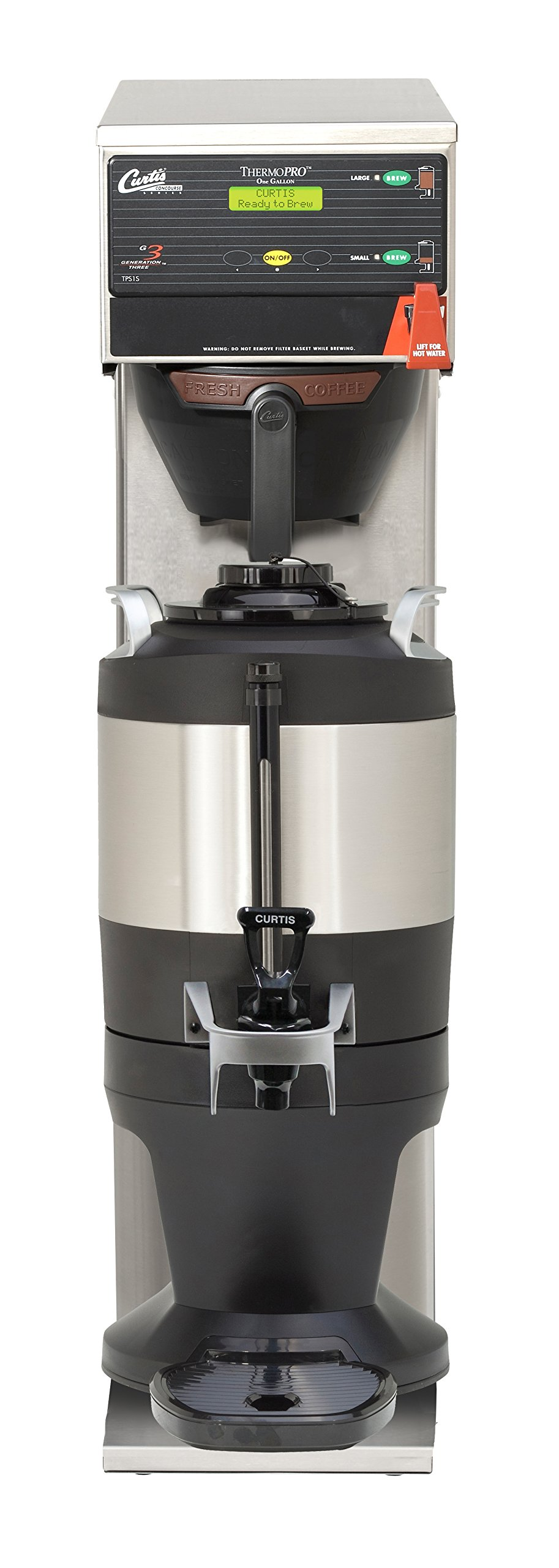 Wilbur Curtis G3 ThermoPro 1.0 Gallon Single Tall Coffee Brewer,  Dual Voltage; 1.0 Gallon Dispenser Sold Separately (Txsg0101S600) - Commercial Coffee Brewer  - TP1ST63A3000 (Each)