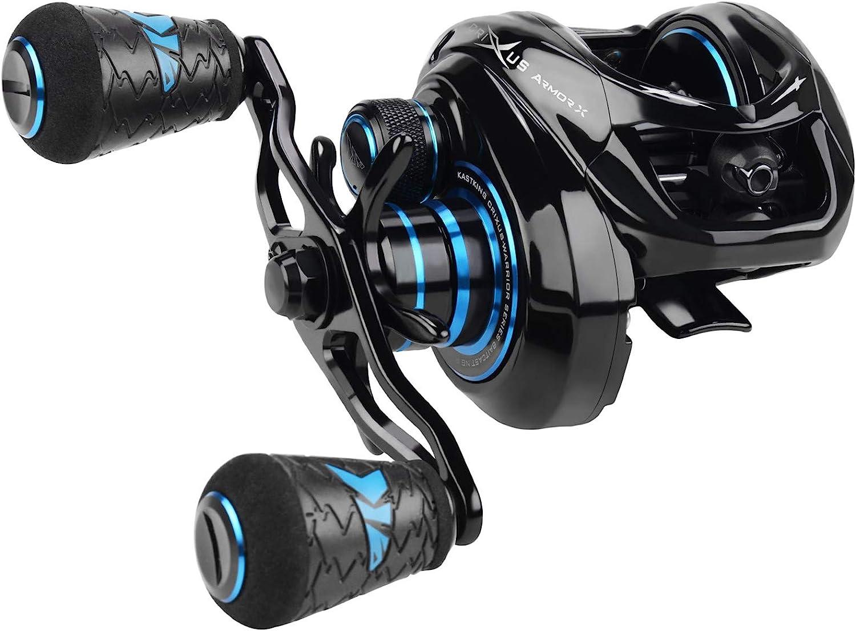 KastKing Crixus ArmorX Baitcasting Reels, 7.2:1 Gear Ratio Fishing Reel, Aluminum Frame, 6.8 oz, 9+1 Shielded SS Bearings, 8 Button Magnetic Brake, 4 Disc-Carbon Fiber Drag, Super Polymer Grips