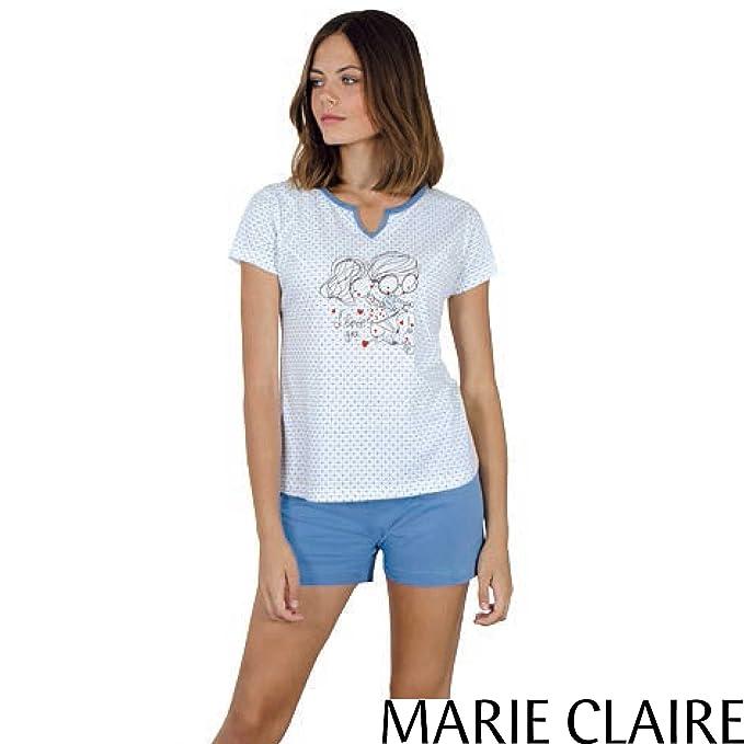 MARIE CLAIRE - Pijama Mujer Color: Azul Talla: 38