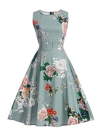 0b7a1d767d3 Floral Print 50s 60s Retro Swing Vintage Dress Plus Size A-Line Party  Dresses with
