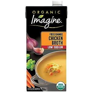 Imagine Organic Low-Sodium Free-Range Chicken Broth, 32 oz.