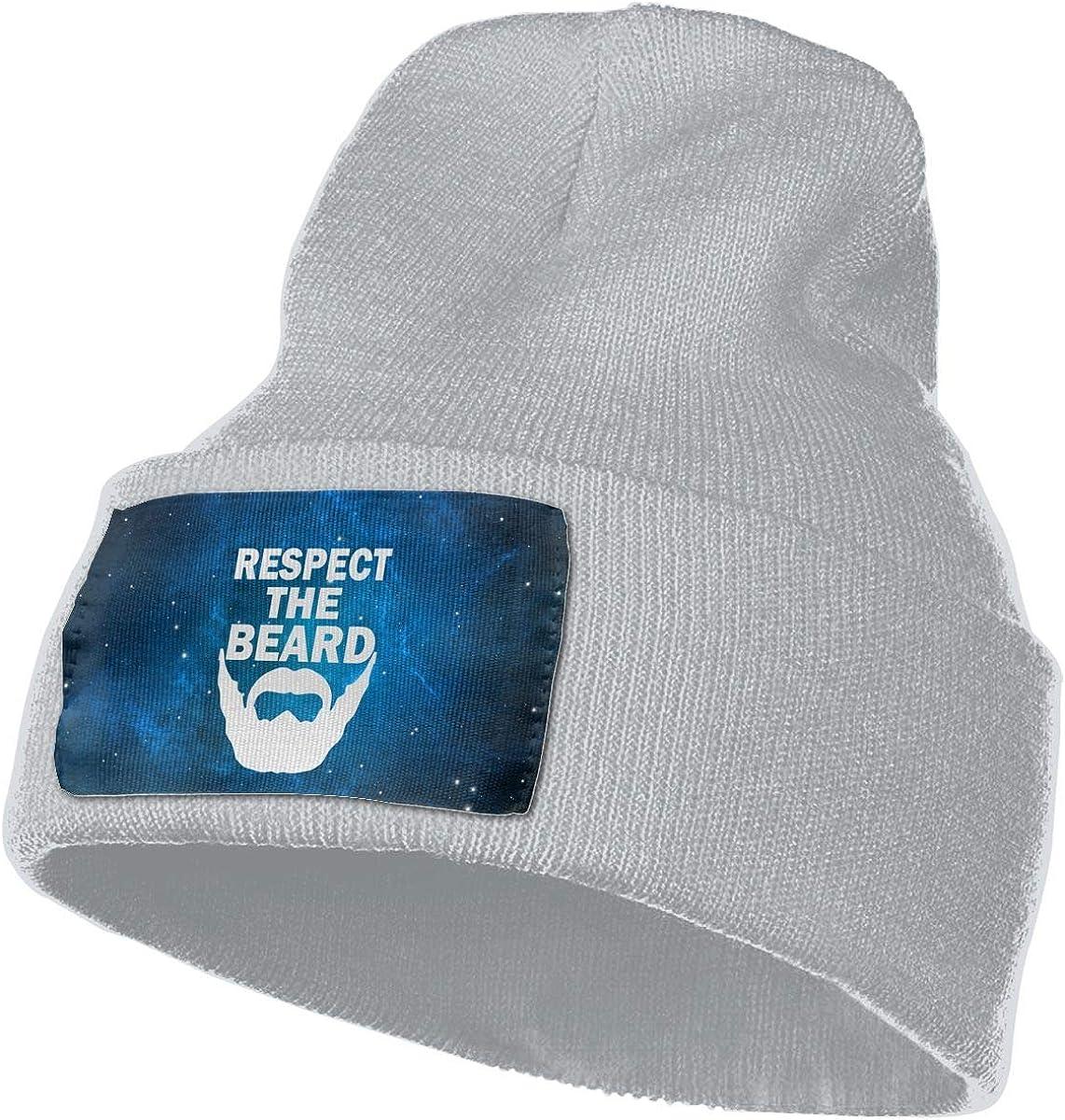 Helidoud Respect The Beard Winter Beanie Hat Knit Skull Cap for for Men /& Women