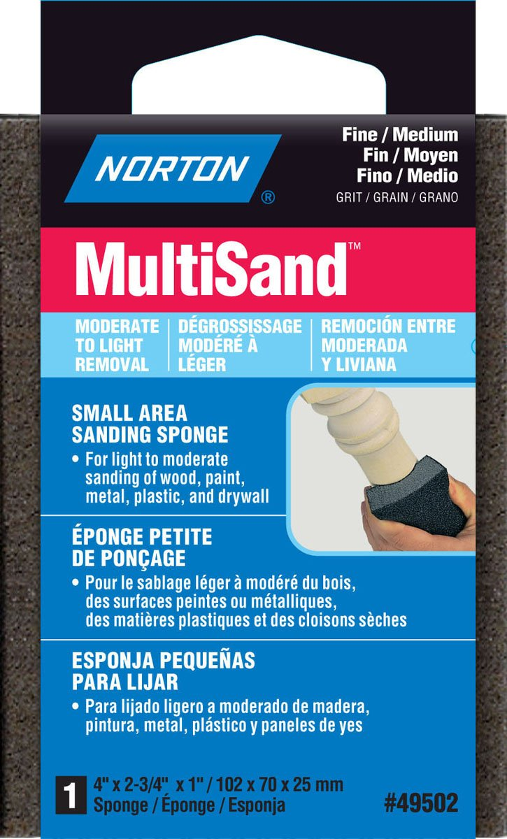 Norton 49502 4-Inch X 2-3/4-Inch X 1-Inch Multisand Sponge - Sanding ...