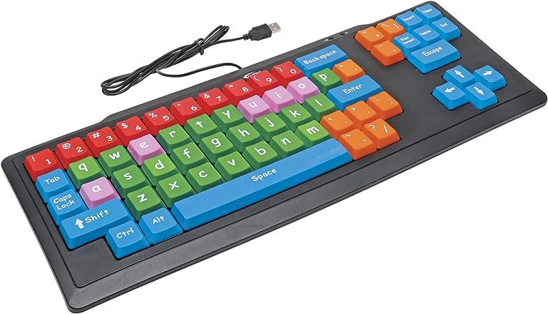 Califone KB2 Oversized USB Teclado con Teclas codificados por Colores