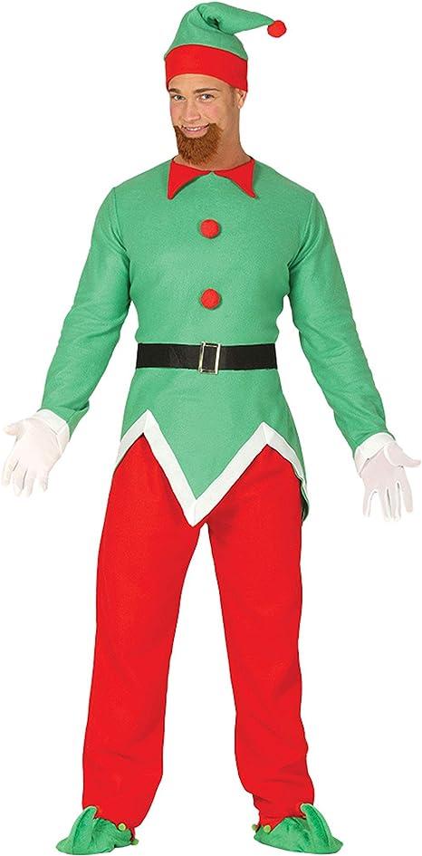 Guirca Disfraz de Elfo Verde y Rojo para Hombre: Guirca: Amazon.es ...