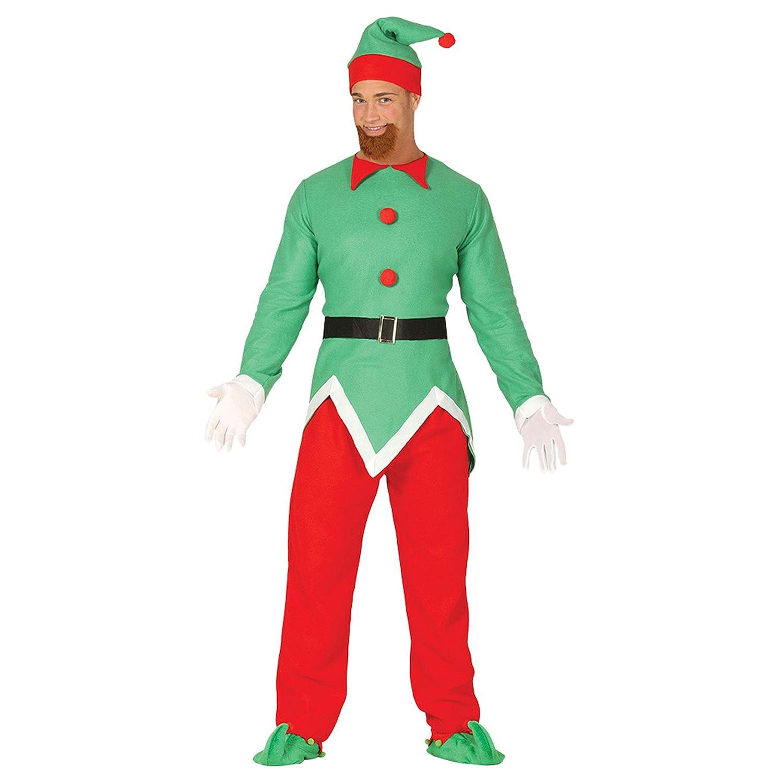 GUIRMA Traje Elfo Adulto Navidad, Color Verde/Rojo, L (52 - 54 ...