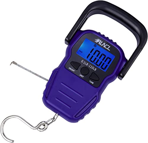<span>Hand Electronic/Digital Fishing Scale (Weigher)</span> w/LCD Display, Data Lock, Auto-Off [Runcl] Picture