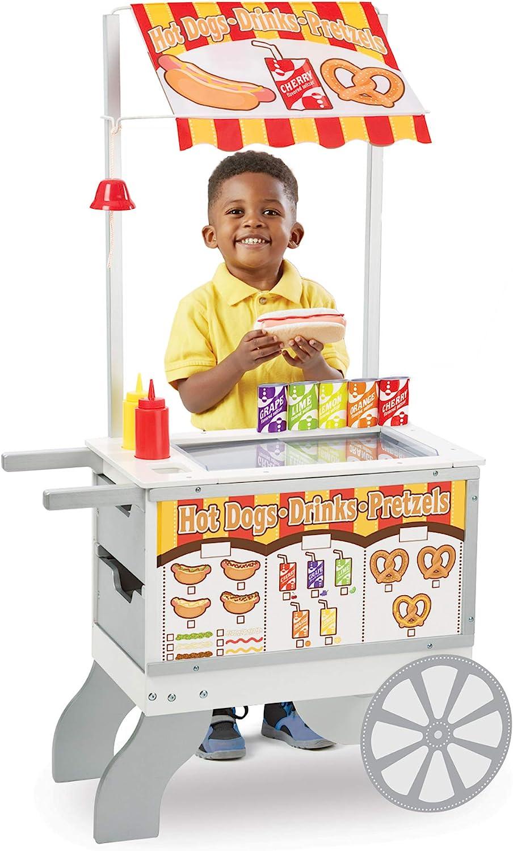 Melissa & Doug-19350 Snacks & Sweets Food Cart, Multicolor (19350) , Modelos/colores Surtidos, 1 Unidad