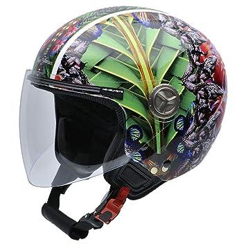 NZI 050312G822 Helix IV Jungle by Maya Hansen Casco de Moto, Diseño Fractal, Talla