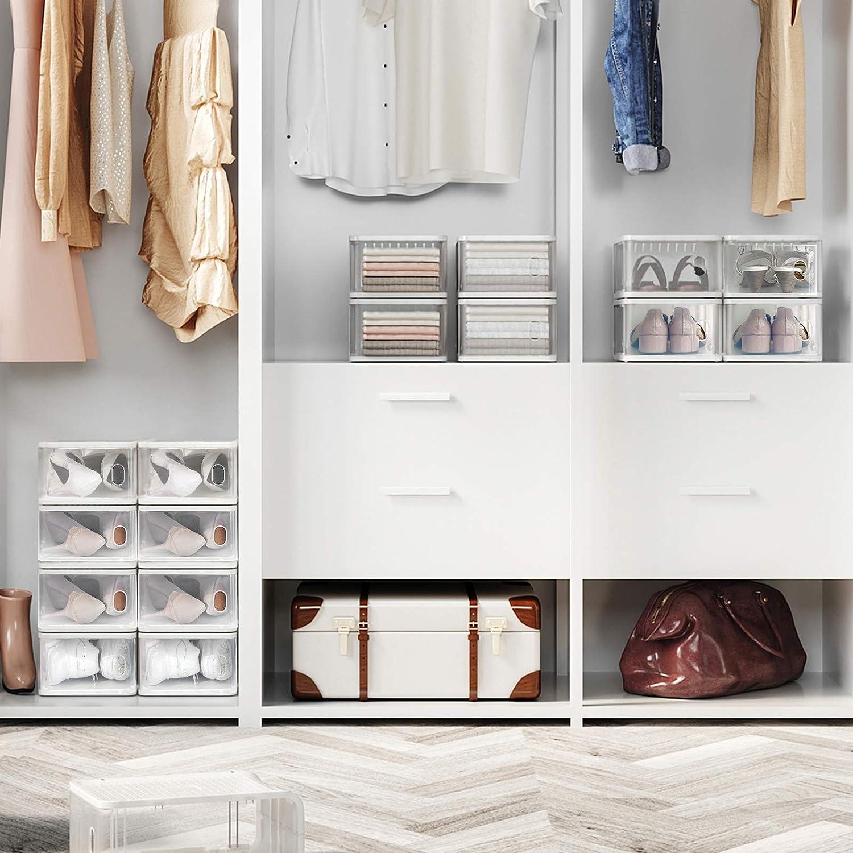 Ornung-Kleiderschrank-Schuhkarton-stabelbare-Boxen