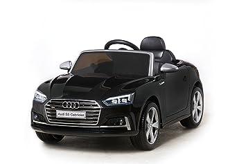 cfe62aeed918 Voiture électrique pour enfant 12 V Audi S5 Cabriolet, roues en caoutchouc,  siège en