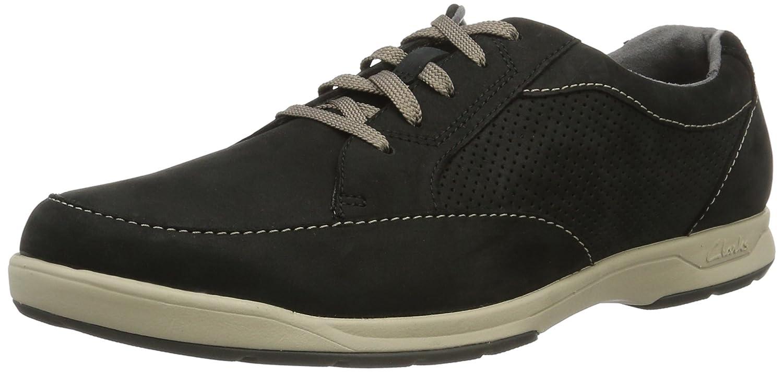 Clarks Stafford Park5 20353216 - Zapatos de cordones para hombre 42.5 EU|Negro (Black Nubuck)