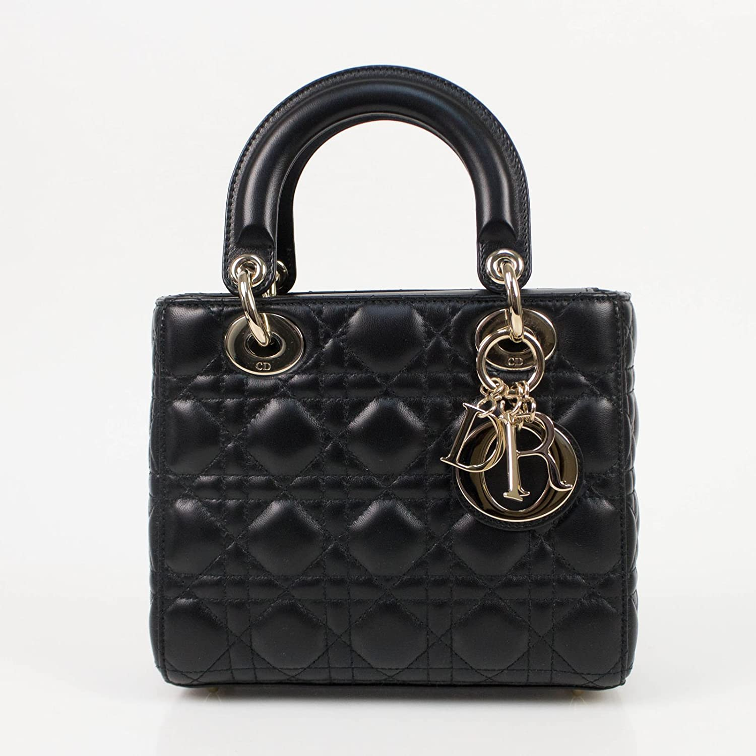 Amazon.com  Christian Dior Lady Dior Leather W Attachable Strap Mini Shoulder  Bag  Baby 25785a4a6644a