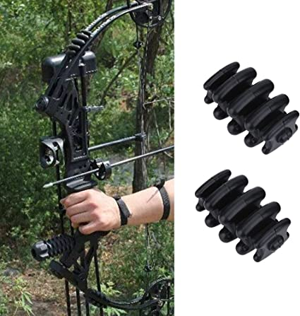 CUPID 1 Pair Compound Bow Stabilizer Split Limb Damping Archery Rubber Bow Limbs Vibration Damper Dampener Silencers