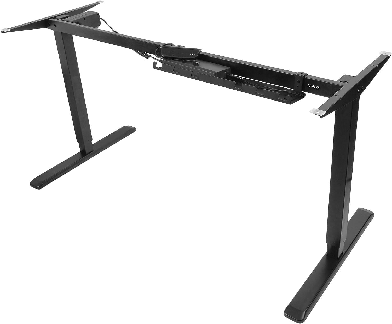 VIVO Black Electric Stand Up Desk Frame Workstation, Single Motor Ergonomic Standing Height Adjustable Base DESK-V102E