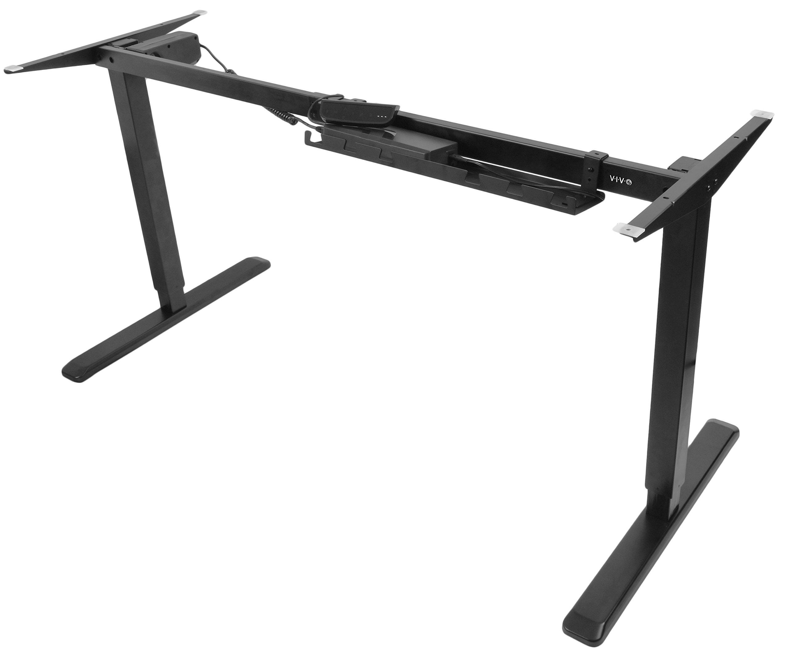 VIVO Black Electric Stand Up Desk Frame Workstation, Single Motor Ergonomic Standing Height Adjustable Base (DESK-V102E) by VIVO