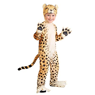 Toddler Cheerful Cheetah Costume 2T Yellow: Clothing