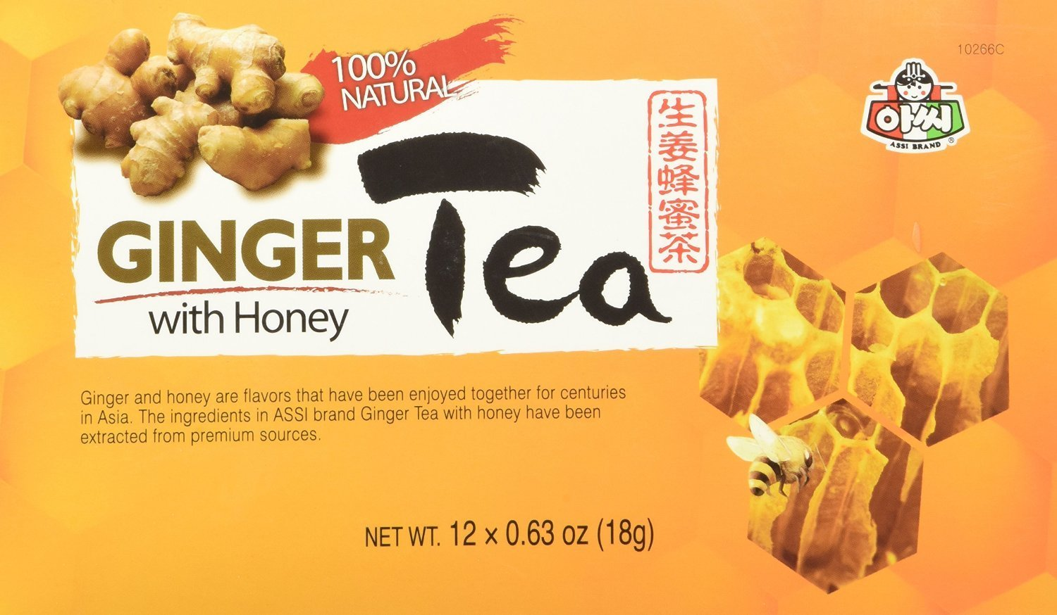 Instant Ginger Tea with Honey, 12 bags x 0.63oz (2 Packs)
