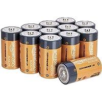12-Pk AmazonBasics C Cell Everyday 1.5 Volt Alkaline Batteries